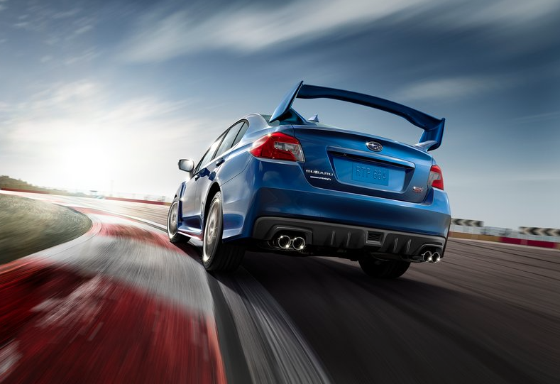 WRX STI WING VIEW